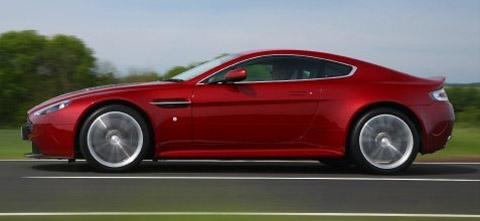2010 Aston Martin V12 Vantage side view red