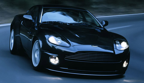 Aston Martin V12 Vanquish S black