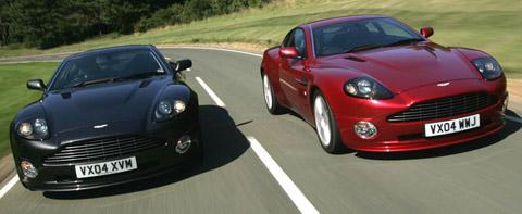 Aston Martin V12 Vanquish S black and red