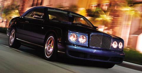 Bentley Azure with hood on