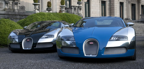 Bugatti Celebrates 100 Years at Concorso d'Eleganza Villa d'Este blue and black