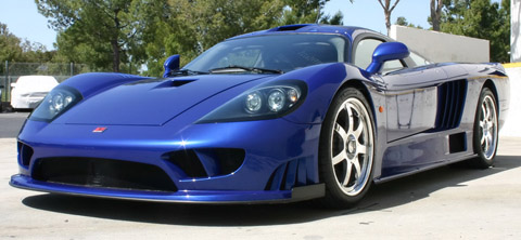 Saleen S7 Twin Turbo blue