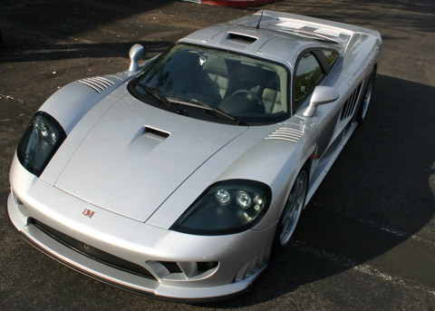 Saleen S7 Twin Turbo white front view