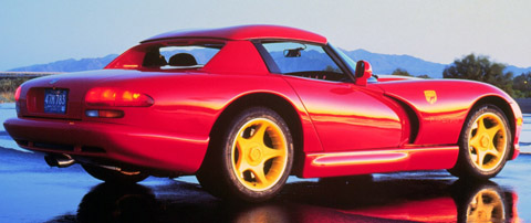 1996 Dodge Viper RT-10 in red