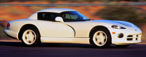 1996 Dodge Viper RT-10 side view in white