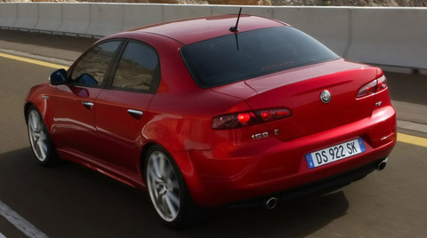 2009 Alfa Romeo 159 back view