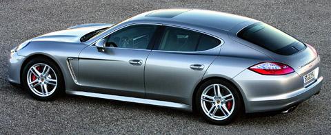 2010 Porsche Panamera Turbo side back view