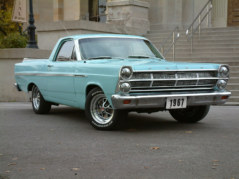 Ford ranchero in blue