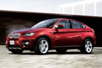 BMW X6 in Red Side View