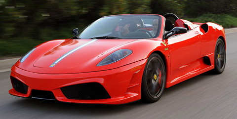 Ferrari Scuderia Spider 16m front view