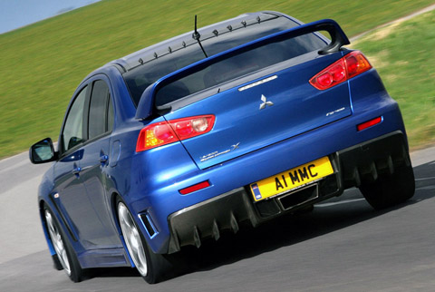 2010 Mitsubishi Evolution X FQ-400 back view