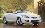 White Toyota Solara SLE Convertible