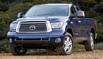 Blue Toyota Tundra 4v4 Double Cab Limited