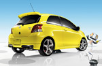 Toyota Yaris 3-Door Liftback in Yellow