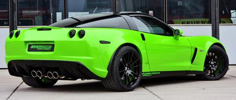 2009 Geiger Corvette Z06 biTurbo back view 480