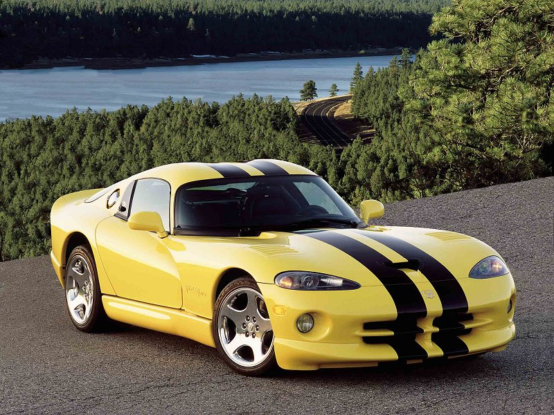 Dodge Viper Yellow Dodge viper gts in yellow