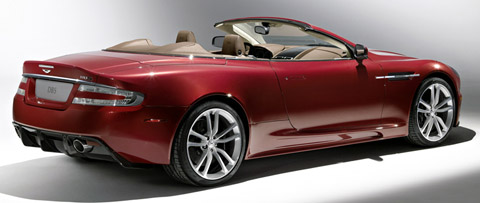 Aston Martin DBS Volante back view