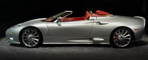 2009 Spyker C8 Aileron Spyder Prototype side view 480
