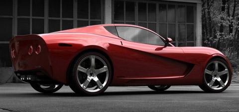 2009 USD Mallett Corvette Z03 red side back view