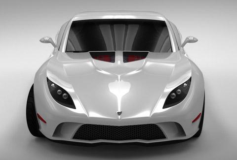 2009 USD Mallett Corvette Z03 white front view