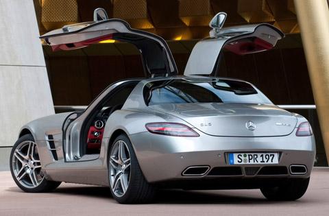 2010 Mercedes-Benz SLS AMG doors open