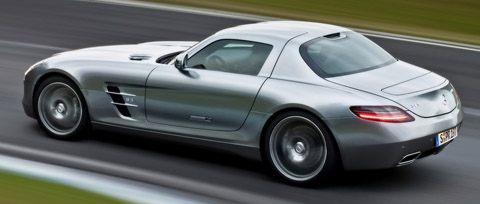 2010 Mercedes-Benz SLS AMG side back view