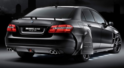 2010 Brabus Mercedes-Benz E V12 back view 480