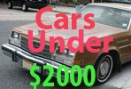 Used Cars Under 2000 Dollars