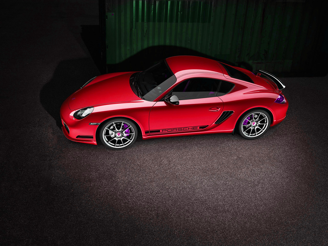 Red Porsche Car Red 2011 Porsche Cayman r