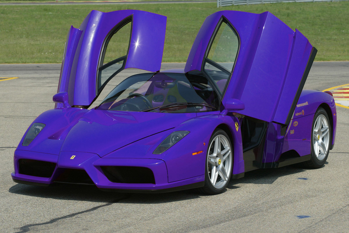 Purple ferrari car