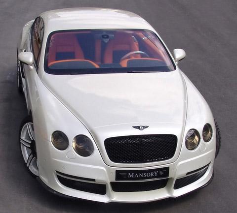 White Bentley Continental GT
