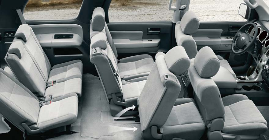 Toyota Sequoia Seating Cut Out View on 2002 Toyota Sequoia Limited