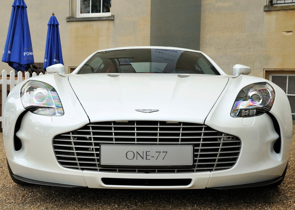 Aston Martin One Wht Front Profile