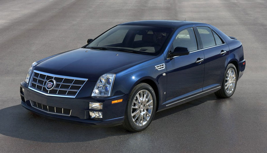 2011 Cadillac STS blue Profile View 2 - 2011 Cadillac Sts Premium