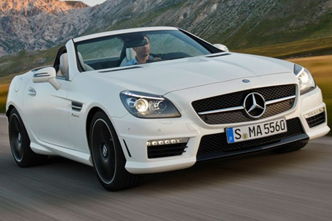 2012 mercedes benz slk 55 amg review specs pictures for 2 seater mercedes benz