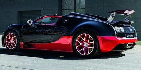 Bugatti veyron black and red