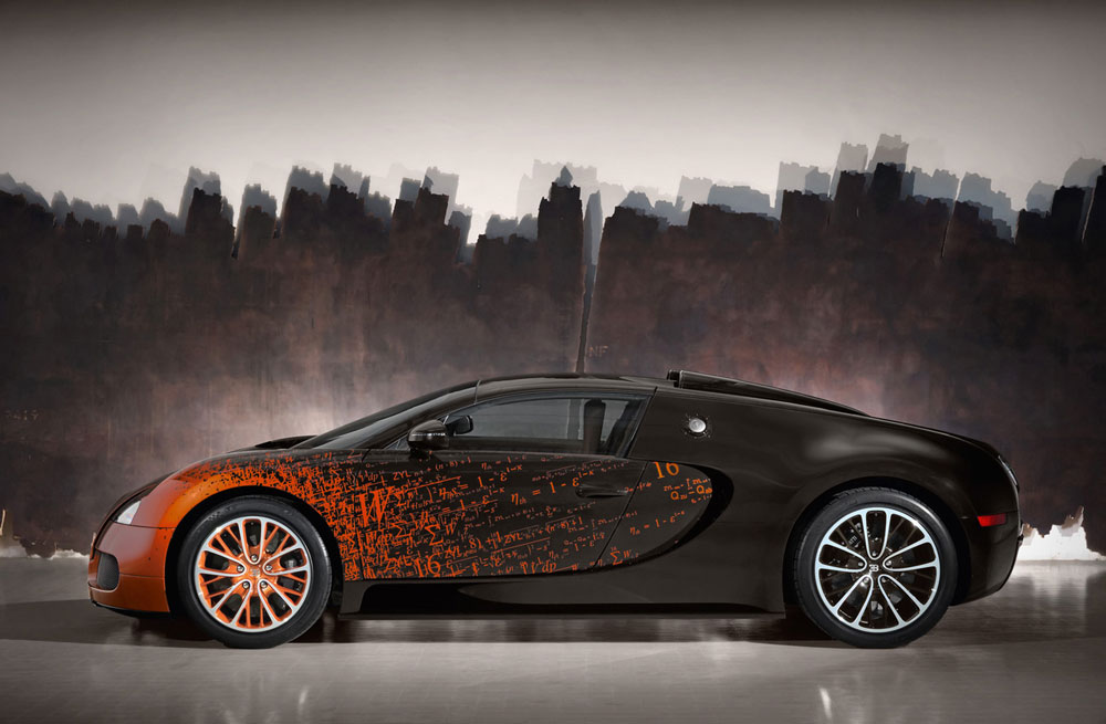 castle cars 2012 bugatti veyron grand sport by bernar venet. Black Bedroom Furniture Sets. Home Design Ideas