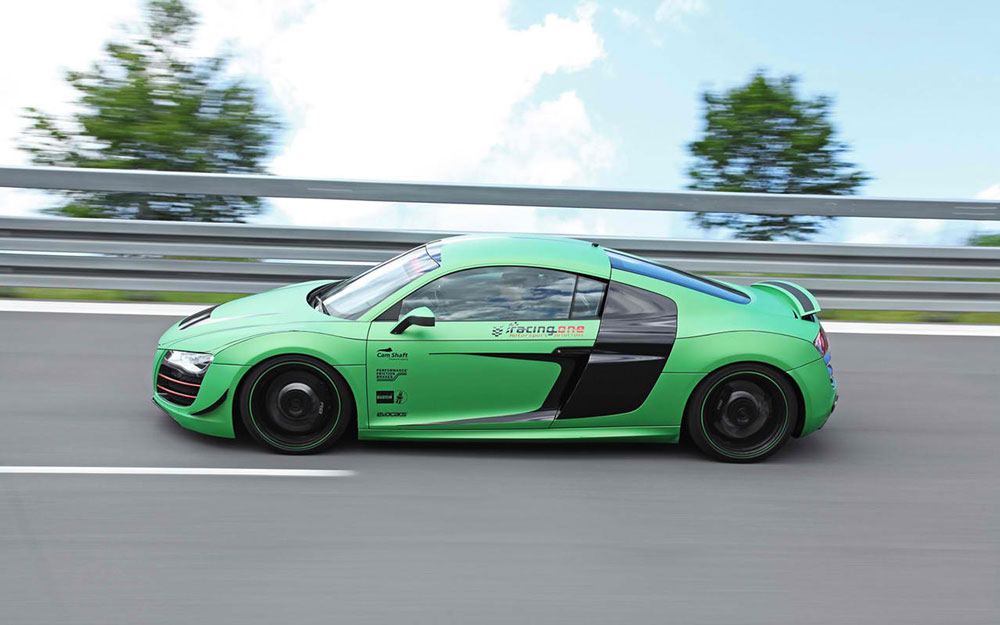 2012 racing one audi r8 v10 review 0 60 mph time. Black Bedroom Furniture Sets. Home Design Ideas
