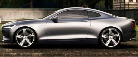 2013-Volvo-Coupe-Concept-by-a-garden B