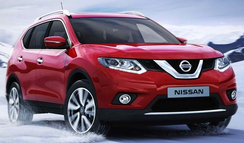 2014-Nissan-X-Trail-through-the-snow A