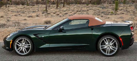2014 chevrolet corvette stingray convertible profile drivers side open. Cars Review. Best American Auto & Cars Review
