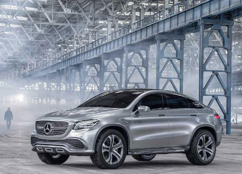 2014 mercedes benz coupe suv concept review pictures for Mercedes benz hybrid cars