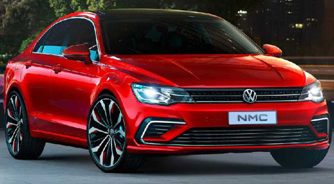 2014-Volkswagen-New-Midsize-Coupe-Concept-city-lights-A
