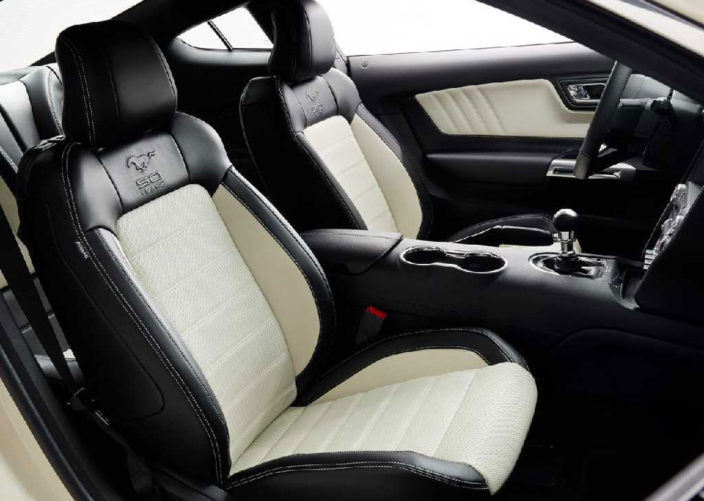 2015 ford mustang 50 year limited edition review pictures for 05 mustang door panel leather