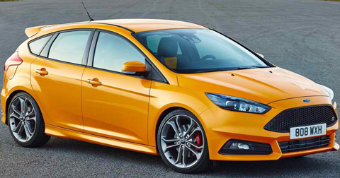 2015-Ford-Focus-ST-sunflower-yellow-A