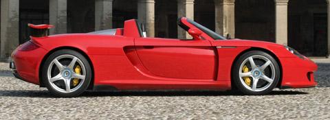 Red Porsche Carrera GT side view