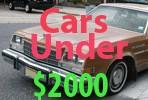 Used Cars Under 2000 Dollars